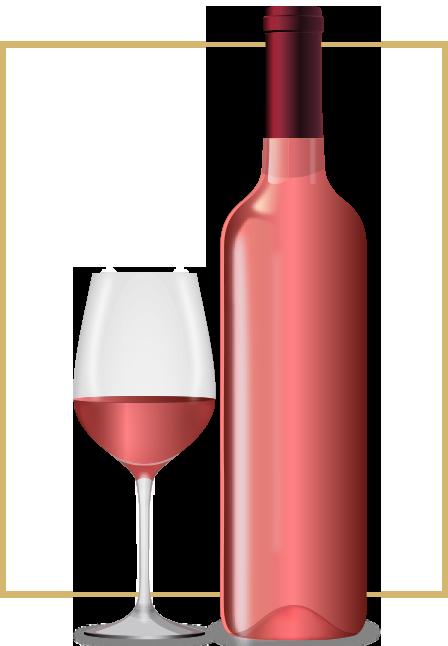 lahev-sklenicka-ruzove-vino